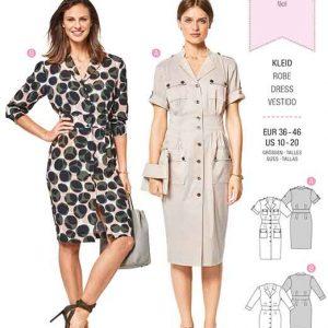 Burda Style Pattern B6440 Women's Sporty Shirt Dresses