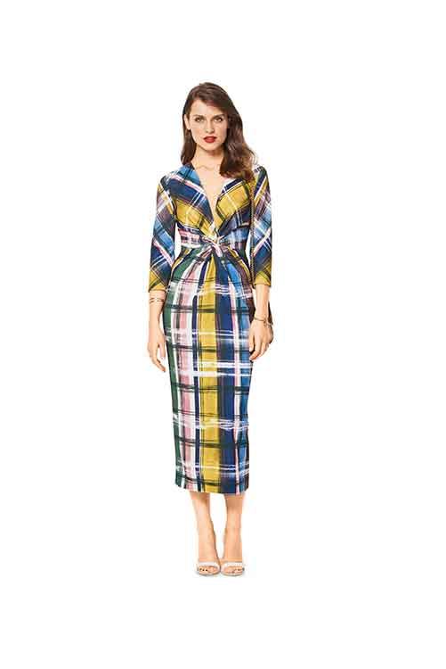Burda Style Pattern B6442 Women's V Neck Evening Dress