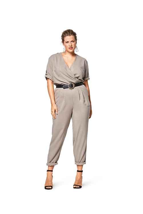 Burda Style Pattern B6444 Women's Elastic Waist Jumpsuit