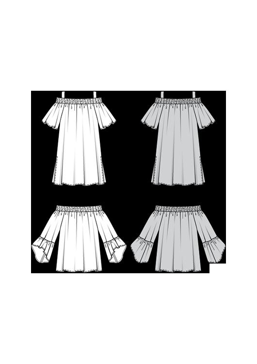 Burda Style Pattern B6446 Women's Sleeve Variation Top