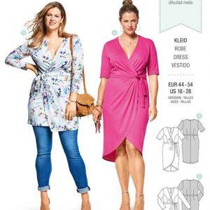 Burda Style Pattern B6447 Women's Mock Wrap Dress