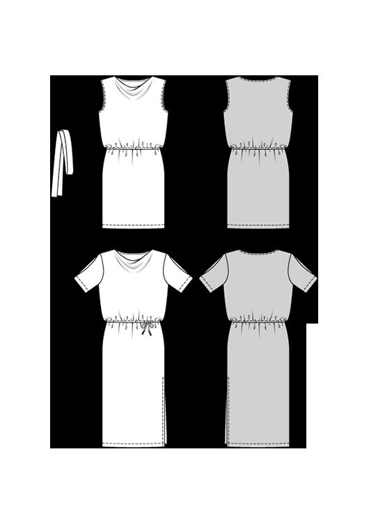 Burda Style Pattern B6448 Women's Loose Fitting Dresses