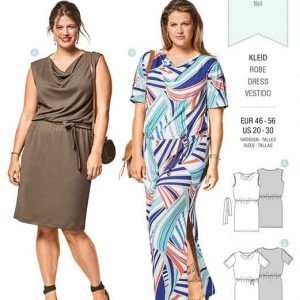 Burda Style Pattern B6448 Women's Loose Fitting Dresses