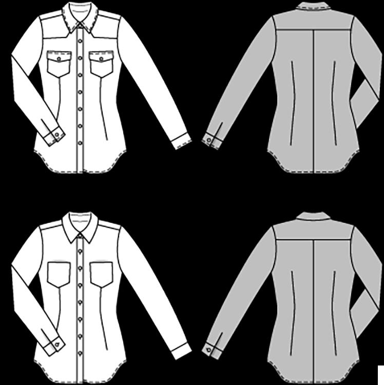 Burda Style B6849 Top, Shirt & Blouse Sewing Pattern - Sew Irish