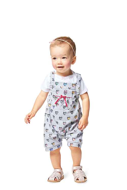 Burda Style Pattern B9337 Baby's Bibbed Trousers