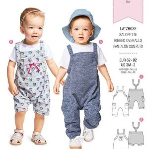 Burda Style Pattern B9337 Baby's Bibbed Trousers