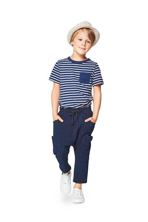 Burda Style Pattern B9342 Child's Elastic Waistband Trousers