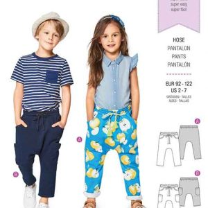 Burda Style Pattern B9342 Child's Elastic Waistband Trousers