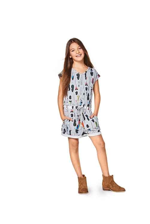 Burda Style Pattern B9345 Child's Summer Jumpsuit