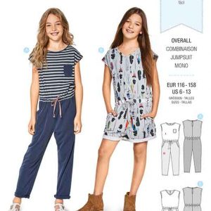 Burda Style Pattern B9345 Child's Summer Jumpsuit