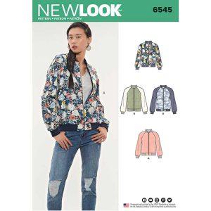 New Look Pattern 6545 Women's Flight Jacket