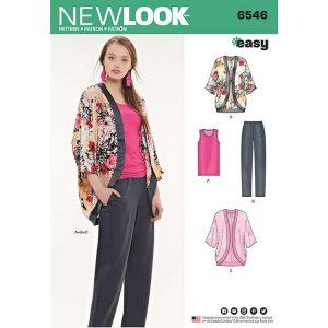 New Look Pattern 6546 Women's Separates