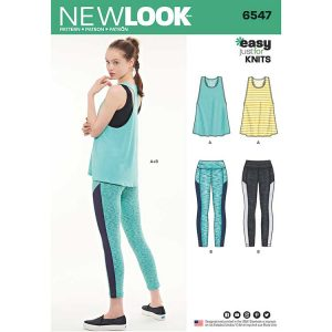 New Look Pattern 6547 Women's Athletic Separates