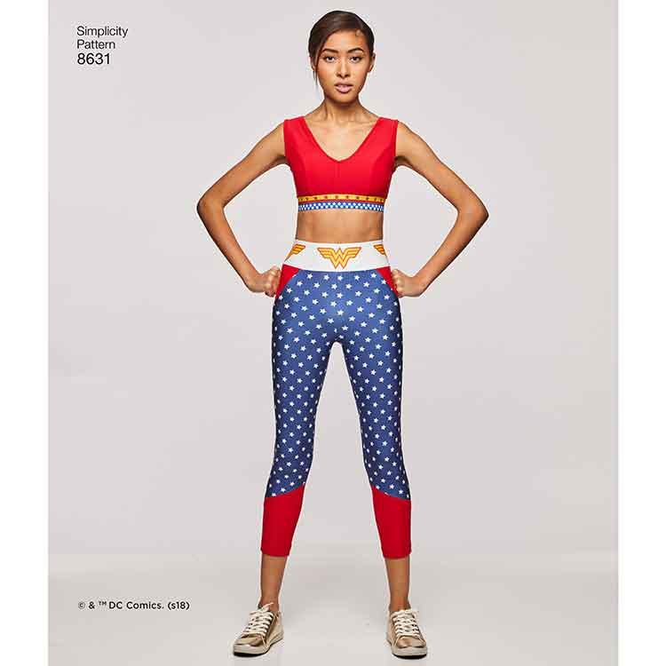 986a11be484 Simplicity 8631 Women's Knit Sports Bra, Top and Leggings - Sew Irish