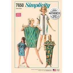 Simplicity 7650 Women's Vintage Caftan Dress