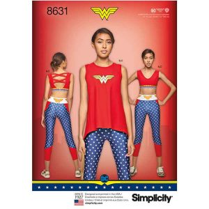 Simplicity 8631 Women's Knit Sports Bra, Top and Leggings