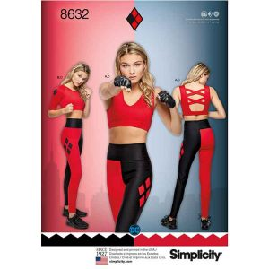 Simplicity 8632 Women's Knit Sports Bra, Top and Leggings