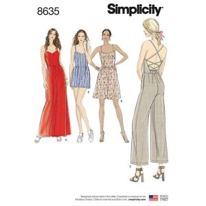 Simplicity 8635 Women's Dress, Jumpsuit and Romper