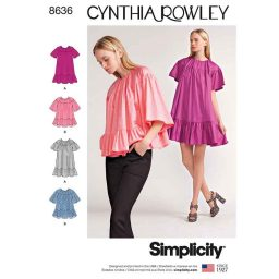 Simplicity 8636 Women's Dress and Top by Cynthia Rowley