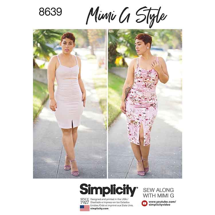 Simplicity 8639 Women\'s Mimi G Knit Dress in Two Lengths - Sew Irish