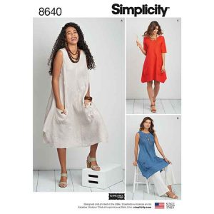 Simplicity 8640 Women's / Plus Size Dress or Tunic