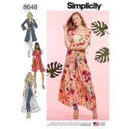 Simplicity 8648 Women's Duster in Two Lengths