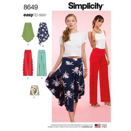 Simplicity  8649 Women's Easy to Sew Knit Bottoms