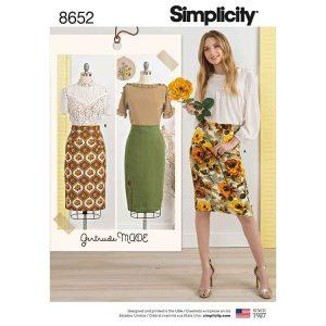 Simplicity 8652 Women's Skirts