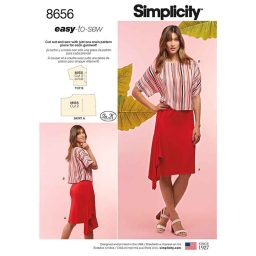 Simplicity 8656 Women's Knit Skirt and Top