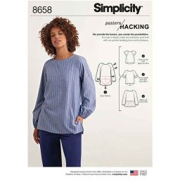 Simplicity 8658 Women's Top  with Options for Design Hacking
