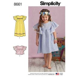 Simplicity 8661 Child's Dresses or Top