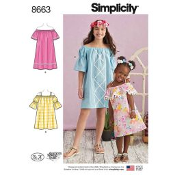 Simplicity 8663 Child's and Girls' Dress