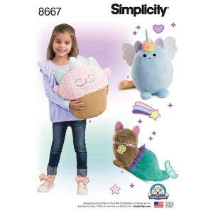 Simplicity 8667 Stuffed Kitties