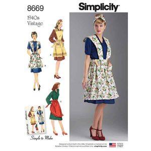 Simplicity 8669 Women's Vintage Aprons