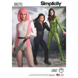 Simplicity 8670 Women's Knit Costume