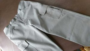 Finished cargo pocket trousers