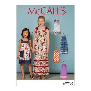 M7768 Children's/Girls' Dresses