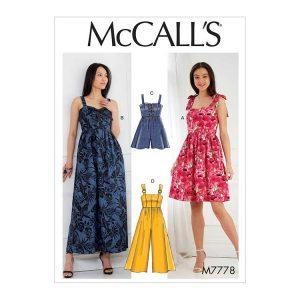 M7778 Misses' Dresses, Romper and Jumpsuit
