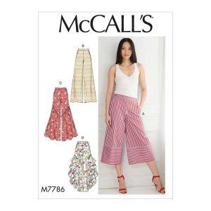 M7786 Misses' Pants