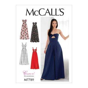 M7789 Misses' Dresses and Jumpsuits