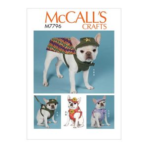 M7796 Dog Hats, Harness and Cape