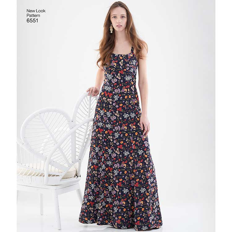 New Look Pattern 6551 Women's Gown