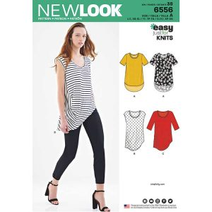 New Look Pattern 6556  Women's Easy Knit Tops