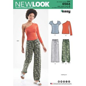 New Look Pattern 6564 Women's Pants and Knit Tops