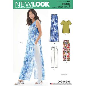New Look Pattern 6566 Women's Tunic, Top and Pants