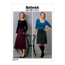B6597 Misses' skirt