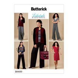 B6600 Misses' Jacket, Top, Dress, Jumpsuit and Pants