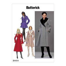 B6604 Misses' Jacket and Coat