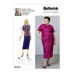 B6605 Misses'/Women's Blouse and Skirt