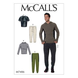 M7485 Mens' raglan sleeve tops and draw string pants